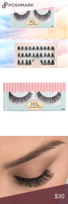 House of lashes 2 pack Strip/Individ'l Bundle NIB House of lashes 2 pack, 1 pair strip lash Sweet Romance creates a wispy, full effect ; 1 set Le petite Triple, individual lashes - these guys are full and dark. You can wear each separately or add the individuals to the strip lash to customize a full dramatic look. You can also wear the individuals in just the corner of the eye for an easy pretty look or place strategically on natural lash line. Both pairs are new in Box. House of Lashes…