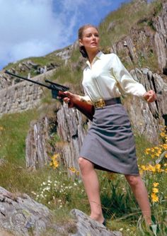 "Tania Mallet in ""Goldfinger,"" 1964"