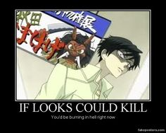 Kyoya ~ IF LOOKS COULD KILL by TrixieTheEvilPixie.deviantart.com on @deviantART