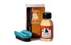 Famaco VelVel Flüssiges Reinigungsmittel speziell für alle Rauleder, wie Wildleder, Nubuk und Velourleder. Mit Schwamm zum Auftragen. 100 ml flasche, empf. VK € 8.50 bestellbar unter www.famaco-online.de