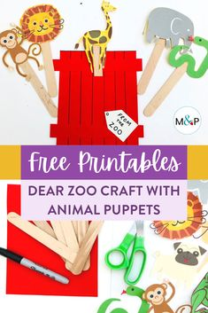Dear Zoo Craft with Animal Puppets Dear Zoo Activities, Educational Activities For Toddlers, Craft Activities For Kids, Activity Ideas, Craft Ideas, Zoo Crafts, Puppet Crafts, Fun Crafts For Kids, Toddler Crafts