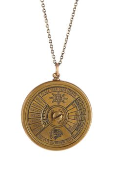 """Lost At Sea Pendant Necklace $89 - $22 HauteLook. - Brass plated sailors navigator circular pendant necklace - Lobster clasp - Approx. 27"""" length with 3"""" extension - Approx. 1.5"""" L x 1.5"""" W pendant - Materials: Brass plated steel"""