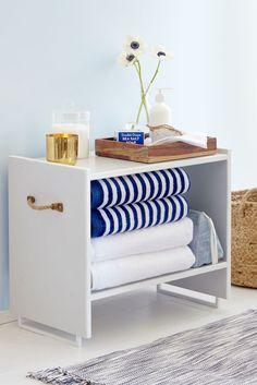 Stash Towels on a Bathroom Shelf