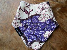 Purple flowers African print bandana bib backed by MamanGateau, £8.50