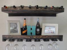 He encontrado este interesante anuncio de Etsy en https://www.etsy.com/es/listing/183424591/rustic-luxe-tiered-wine-rack-set-of-2