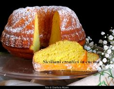 Ricotta and saffron cake, without butter and oil. Un dolce profumato, sofficissimo e facile, Perfect for breakfast. Mama Cooking, Cooking Time, Saffron Cake, Cookie Bakery, Tartelette, Sicilian Recipes, Italian Desserts, Sweet Bread, Cake Cookies