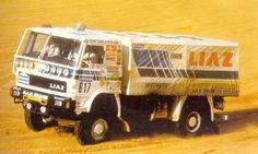 Liaz 111.154D (Rallye Paris-Alger-Dakar 1988) Rallye Paris Dakar, Rally Raid, Cars And Motorcycles, 4x4, Monster Trucks, Racing, Military, Technology, Models