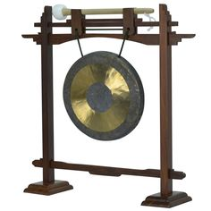 """07"""" Chau Gong with Rosewood Pedestal Gong Stand and Mallet Combo"""