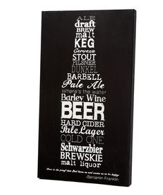 Look what I found on #zulily! Beer Bottle Sign by Twelve Timbers #zulilyfinds