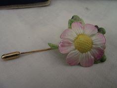 vintage coalport bone china flower pin