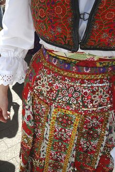 Detail of traditional dress from Hungary
