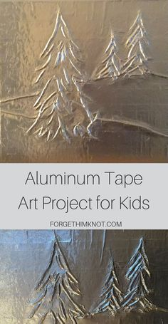 Art Project for Kids Using Aluminum Tape The home improvement store is a great place for art inspiration! Learn how to use aluminum tape and yarn to create a fun art project for kids. Christmas Art Projects, Christmas Tree Art, Winter Art Projects, Cool Art Projects, Projects For Kids, Art Project For Kids, Christmas Decor, Recycled Art Projects, Tape Art