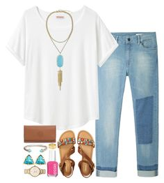 turquoise by okieprep on Polyvore featuring polyvore fashion style Organic by John Patrick Hope Aéropostale Tory Burch Kendra Scott Kate Spade David Yurman Cartier Essie clothing