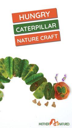 nature craft hungry caterpillar Creative Activities For Kids, Creative Arts And Crafts, Nature Activities, Rainy Day Activities, Easy Crafts For Kids, Arts And Crafts Projects, Creative Kids, Preschool Activities, Fun Crafts