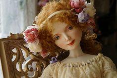 Porcelain doll by Oksana Saharova. Collection Muses by Alphonse Mucha. Porcelain, 65cm