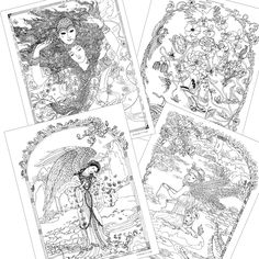 Myth Magic An Enchanted Fantasy Art Coloring Book By Kinuko Y Craft Gorgeous Illustrations Of Goddesses Angels Fairies Princesses Heroes