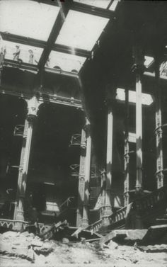 How did the Most Beautiful Library in America get Demolished? - By MessyNessy --   Pictured, the old  Public library of Cincinnati during demolition, 1955.