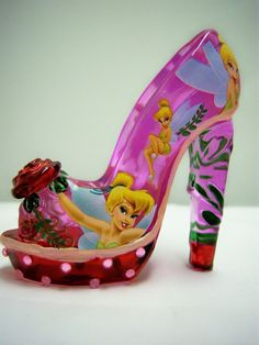Solely Devoted To You - TInk High Heeled Shoe Tinker Bell Disney Figurine