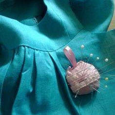 New linen dress. Hand stitching. #summer #special #dress #summerdress  #handmade for #kids #kidsfashion #slowfashion #blue #linen #handstiching #fitting #queenzoja #work & #fun #slow #slowfashion #slowliving #eco #len #szyjemy #szycie #lato #moda #dzieciaki