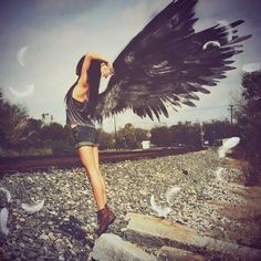 girl with angel wings - Google Search