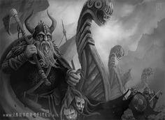 Viking Invasion Artwork, artwork, illustration, photoshop