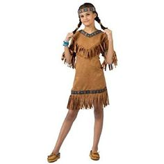 Child's Native American Indian Girl Costume Size Large (12-14) ** You can find more details by visiting the image link. (This is an affiliate link) #CostumesforKids
