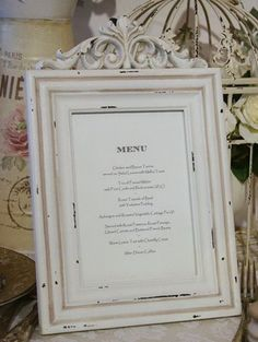 menu - Drink table and desert table