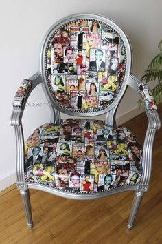 Small Accent Chairs For Bedroom Silver Furniture, Funky Furniture, Furniture Styles, Unique Furniture, Upcycled Furniture, Painted Furniture, Luxury Furniture, Painted Kitchen Tables, Painted Chairs