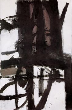 A ponte (c.1955). Franz Kline. óleo sobre tela 2,08m x 1,38m. Instituto de Artes Munson-Williamn-Proctor, Utica, Nova York, EUA. Book: FARTHING, Stephen. This is Art. London: Quintessence, 2010.