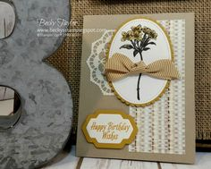Creating with Becky's Stamping Spot   blog Avant Garden stamp set, Stampin' Up!, Sale-a-Bration