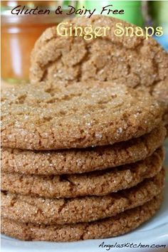 Ginger Snaps- gluten free, dairy free, gfcf and DELICIOUS! One of our family's favorite cookies!
