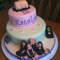 """Pretty Little Liars themed cake! Would need to write something like, """"Happy birthday! If you dare... kisses -A"""""""