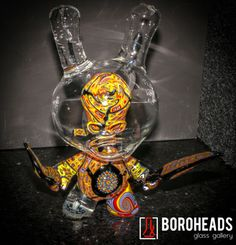 artist: Capt' Crunk,  ONE OF A KIND - Dunny Skull Bunny. Signed.   #capncrunk #roseroads #collab #dunny #crazy #boroheads #hitzimports #416 #905 #710 #420 #highend #highendglassforsale #glassofig #maryjane #weed #herbs #freshherbs #glassonglass #skull #bunny #skullbunny #downtownglassgallery #glassgallery #unique #oneofakind #collectables #collegest #glassforsale #functionalglassforsale
