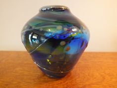 Original Signed Iridescent Studio Art Glass by MaysFineAntiques