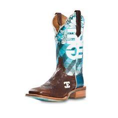 I like these funky boots - Murdochs – Cinch Edge - Womens Malibu Blue Boot