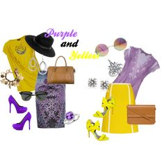 """""""Purple and Yellow"""" by telley-m-jay on Polyvore"""