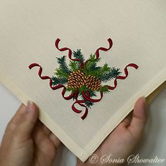 MY FAVORITE... WISH IT WAS NOT JUST A CORNER DESIGN...Winter Pines Corner: Sonia Showalter
