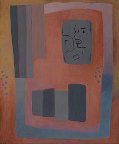 """Charlotte Wankel - """"Komposisjon med to hoder"""" 1962 Charlotte, Kunst"""