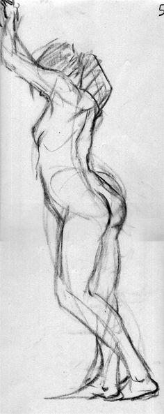 Gesture sketch - Woman leaning by wynahiros on deviantART