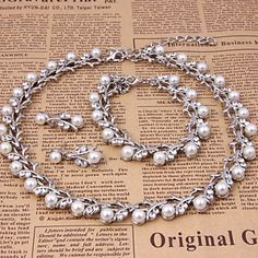 Classic Jewelry Set (necklace) (earrings) (Bracelet) 3869068 2017 – $14.99