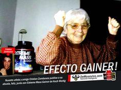 La abuela de nuestro amigo y atleta Cristian Zambosco junto con el Extreme Mass de Hoch Wertig: Efecto Gainer !!! Solo en www.demusculos.com