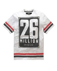 9ddb7773 26 Million Praag White T-Shirt | Jacamo - that should be mine! Design