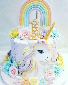 Unicorn Birthday, Birthday Cake, Unicorn Fantasy, About Me Blog, Kawaii, Kids, Children, Dessert, Cakes
