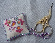 Scissor fob made by Bagladyinstitches - pattern by Kincavel Krosses