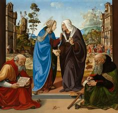 "Piero di Cosimo, ""The Visitation with Saint Nicholas and Saint Anthony Abbot,"" c. 1489/1490, oil on panel, National Gallery of Art, Washington, Samuel H. Kress Collection"