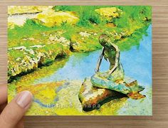 Notecards Blank Set of 8 Mermaid Sirena Of by RidinOnTheRightSide