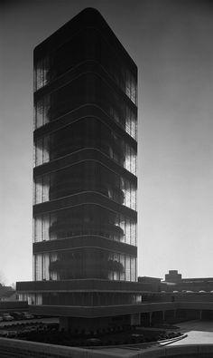Johnson Wax Tower - Racine, Wisconsin - Frank Lloyd Wright 1950