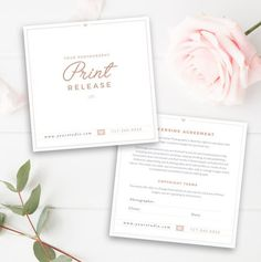 Photography Print Release Template - Photography Form Template