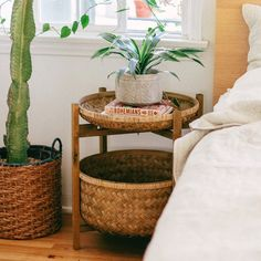 Jungalow® by Justina Blakeney is the one-stop-shop for bohemian-modern home decor + all things all things colorful, patternful +jungalicious. Sisal, Rattan Furniture, Small Furniture, Headboard With Lights, Rattan Basket, Baskets, Justina Blakeney, Interior Decorating, Interior Design