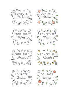 Etiquettes bocaux compotes & confitures